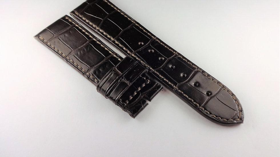 Replacement 23mm Brown Genuine Louisiana Alligator Hand Made