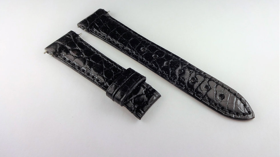 Jacob & Co Black Genuine Louisiana Alligator 16mm
