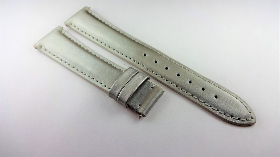 Charriol Genuine Leather 18mm Silver Satin for Deployment