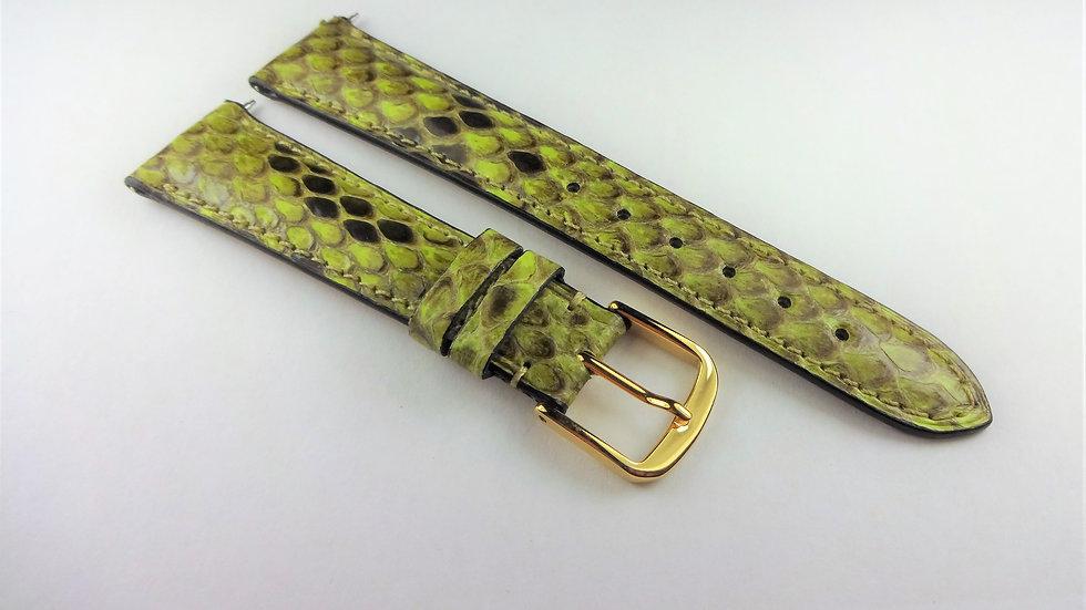 David Yurman 18mm Green Genuine Snakeskin