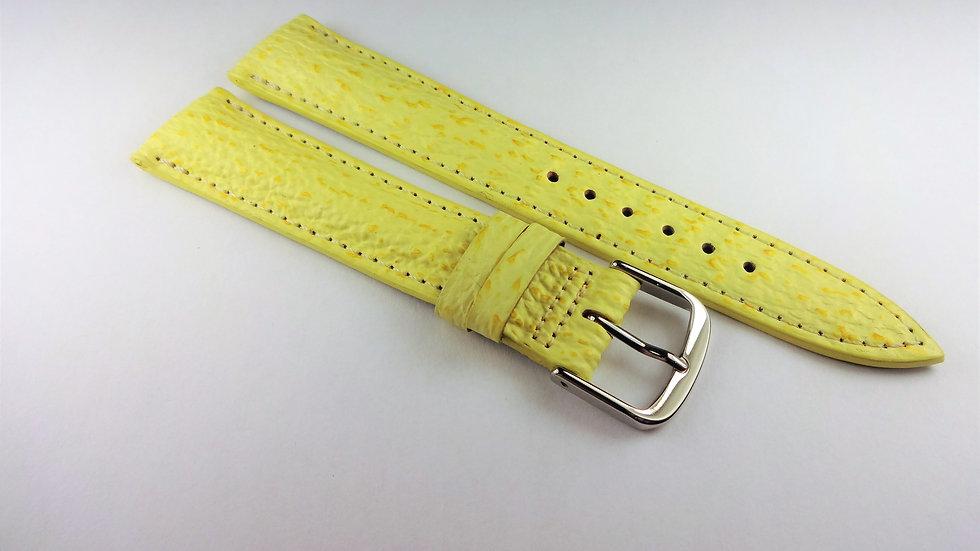 Paul Picot 18mm Yellow Genuine Sharkskin