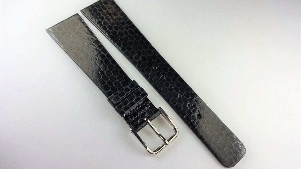 Replacement 20mm Gray Genuine Leather Snake Grain