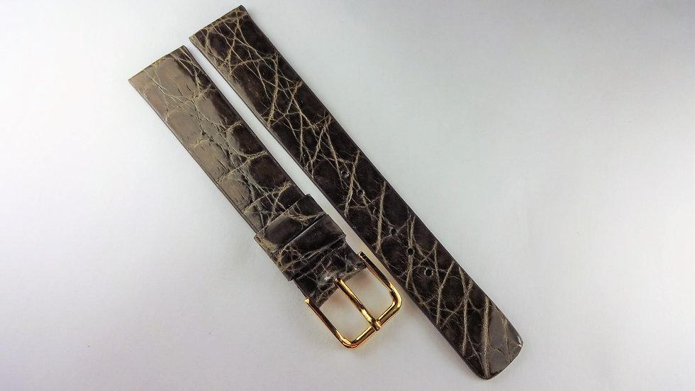 Lassale 17mm Gray Genuine Crocodile