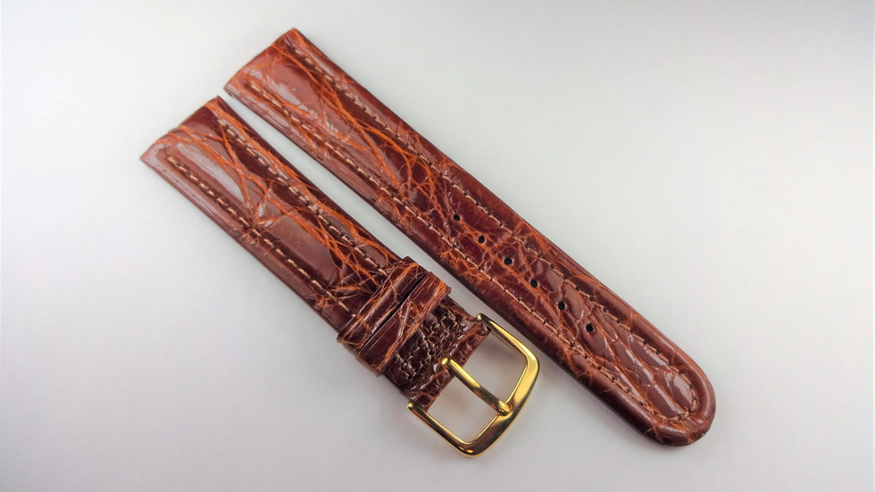 Replacement For Breitling 20mm Brown Genuine Crocodile