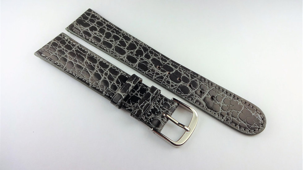 Replacement 19mm Gray Baby Croco Grain on Calf