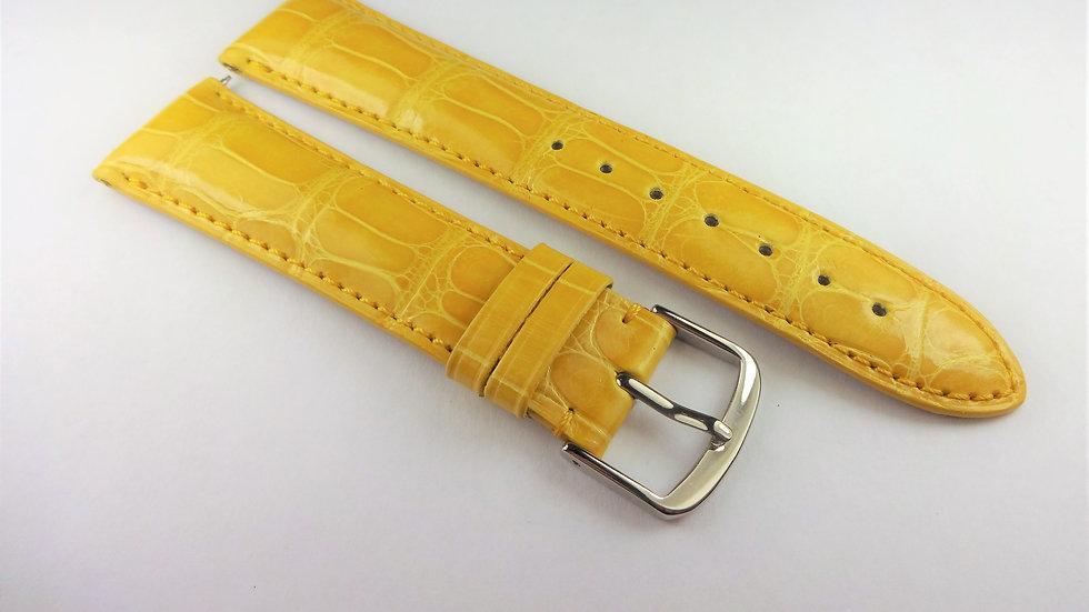 David Yurman 20mm Yellow Genuine Alligator