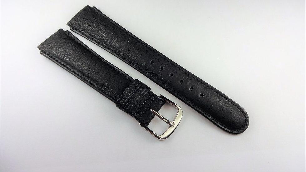 Replacement for Technomarine 17mm Black Genuine American Emu