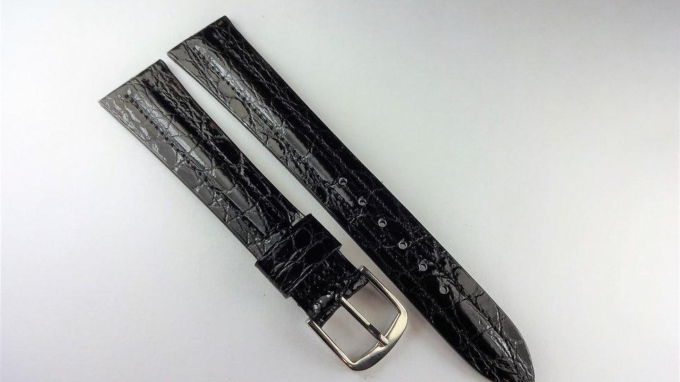 Seiko 18mm Black Genuine Baby Croco Grainon Calf