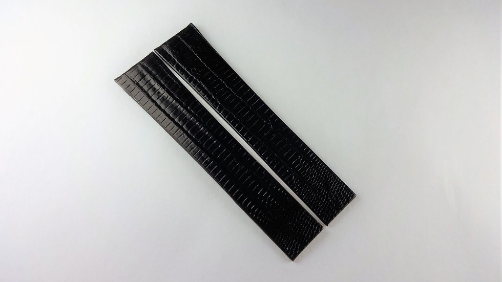 Jean Lassale 14mm Black Genuine Lizard