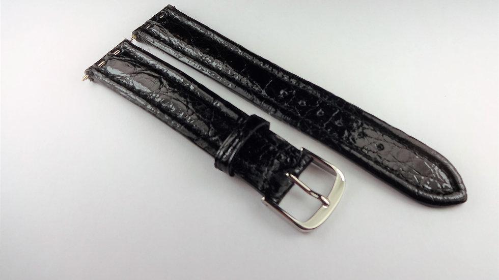 Chagal 17mm Black Genuine Crocodile
