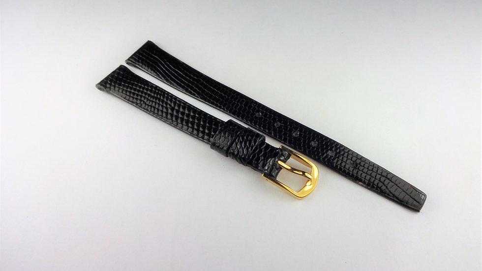 Concord 11mm Black Genuine Royal Lizard