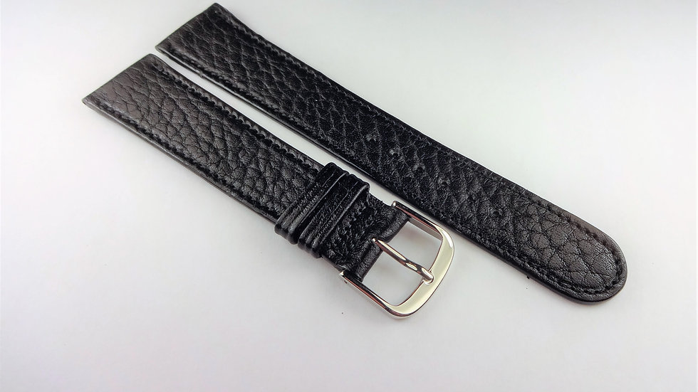 Replacement 19mm Black Genuine Pampa Leather