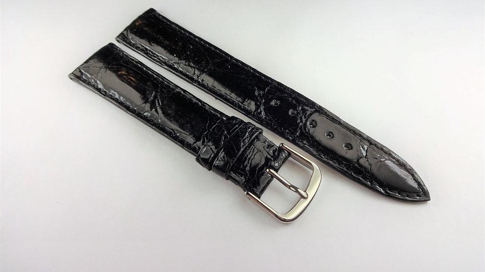 Bueche-Girod 18mm Black Genuine Crocodile