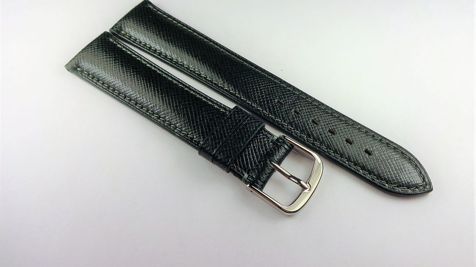 Omega 18mm Forest Green Genuine Safiano Leather