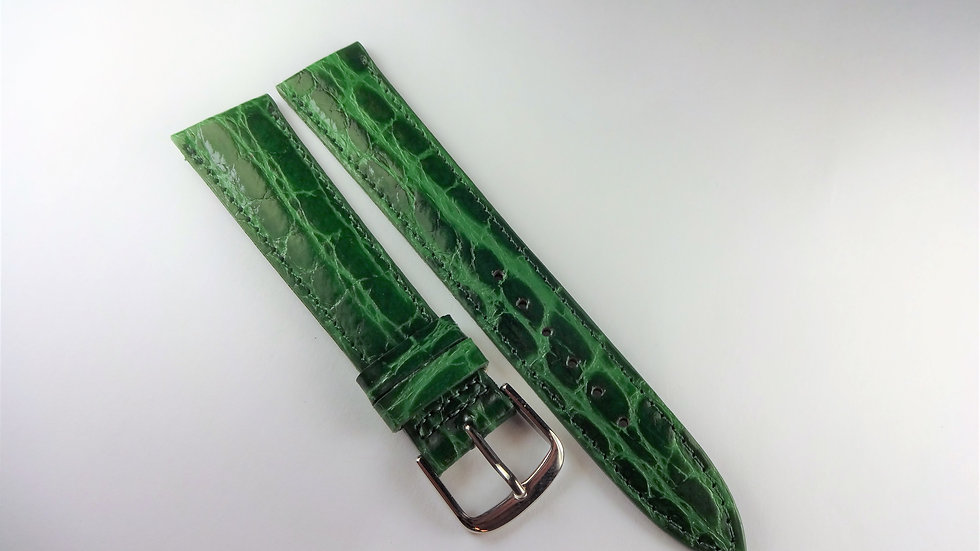 Replacement 18mm Green Baby Croco Grain on Calf