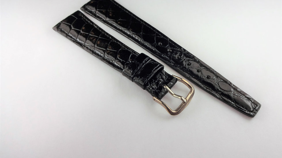 Replacement 19mm Black Genuine Baby Crocodile