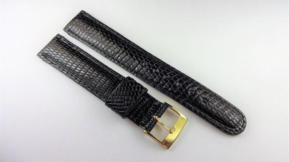 Replacement 17mm Black Genuine Lizard