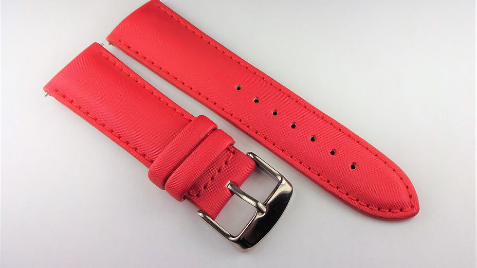 Replacement 22mm Red Genuine Satin Leather
