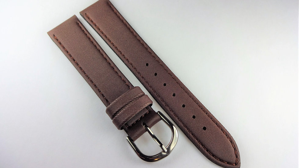 Replacement Hoders 18mm Brown Satin Synthetic Leather