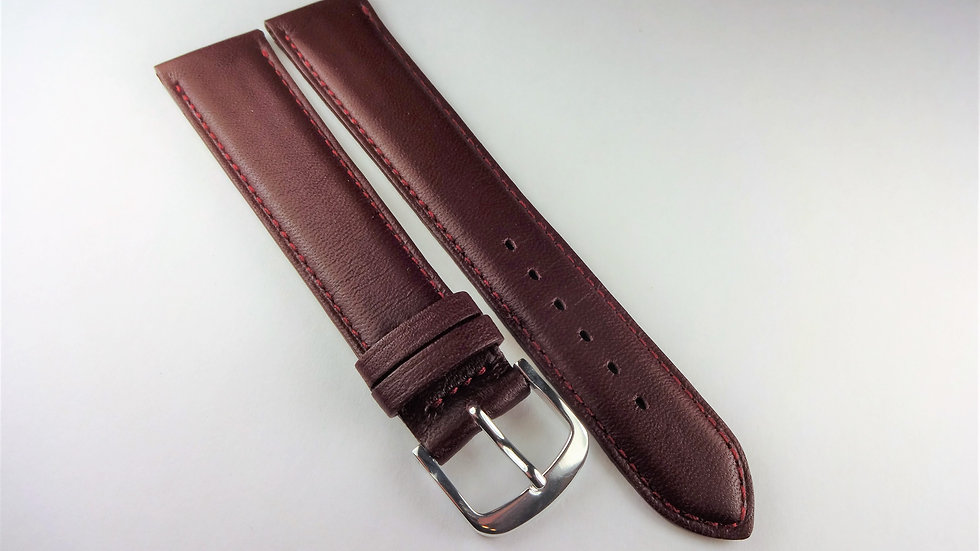 Replacement 18mm Wine Genuine Box Leather