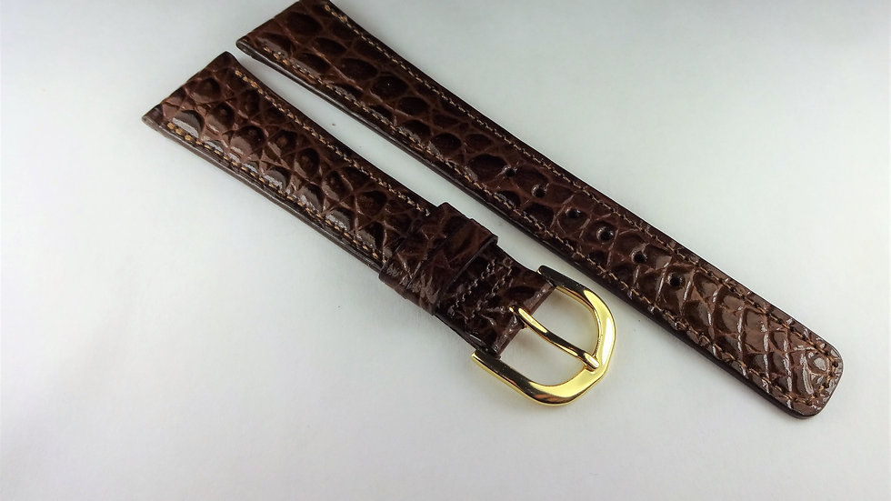 Replacement 19mm Brown Genuine Royal Croco Grain on Calf