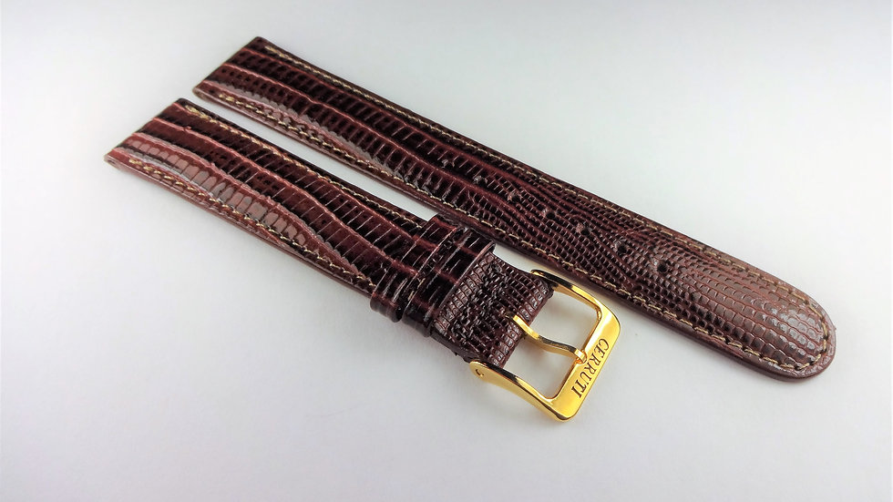 Cerruti 1881 17mm Brown Royal Allig-Lizard Grain on Calfskin