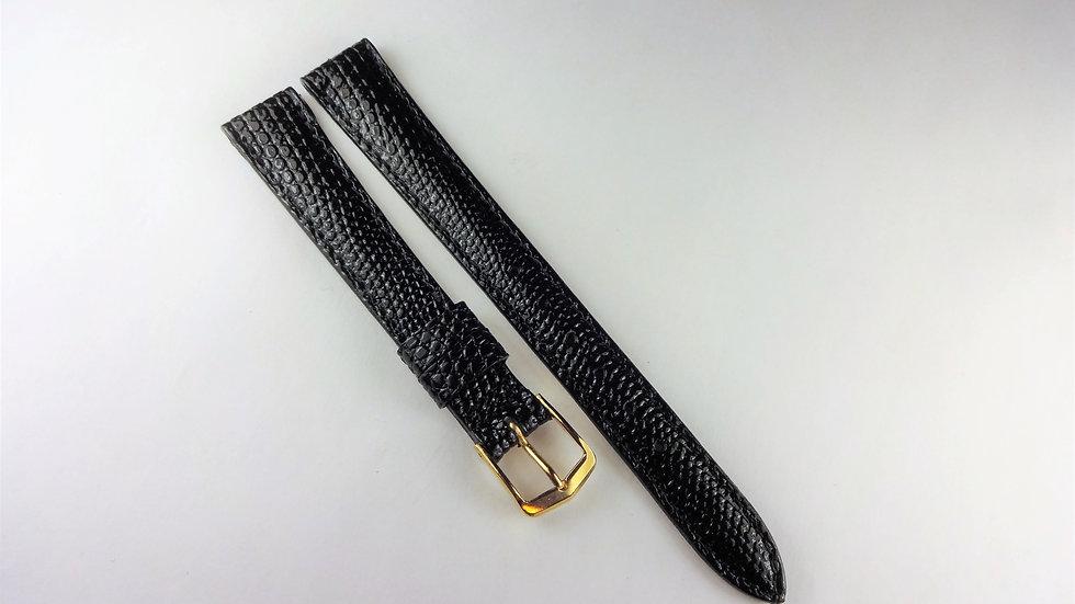 Jostens 12mm Black Genuine Oriental Lizard Grain on Calf