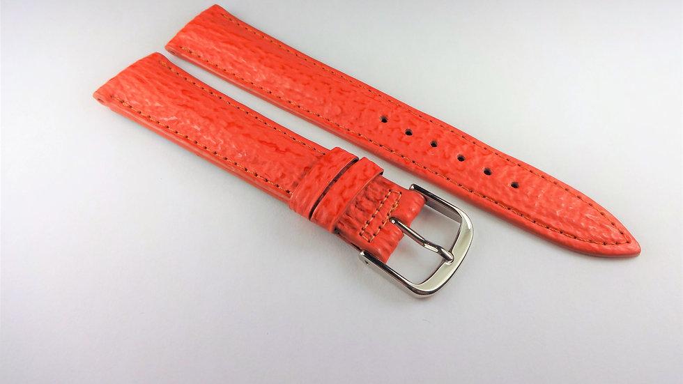 Paul Picot 18mm Orange Genuine Sharkskin
