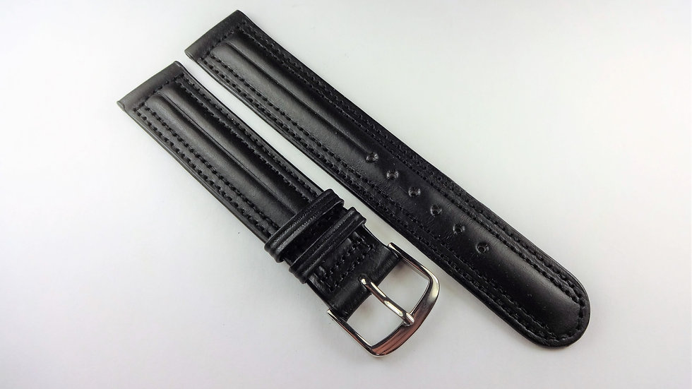 Replacement 18mm Black Genuine Western Leather