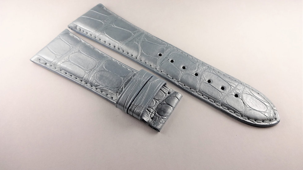 Replacement 25mm Aqua Genuine Louisiana Alligator For Deployment