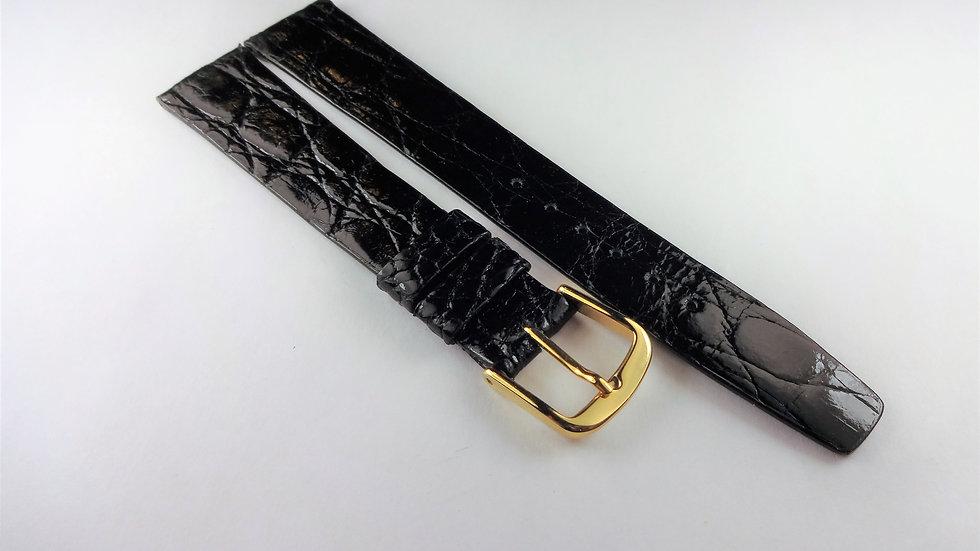 Hamilton 17mm Black Genuine Crocodile