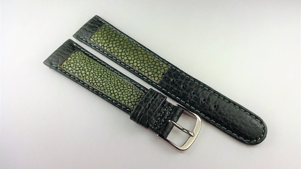 Replacement 19mm Green Genuine Leather Stingray/Buffalo