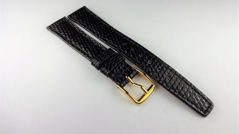 Pierre Laurent 14mm Black Genuine Lizard
