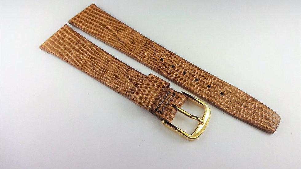Rotary 18mm Tan Genuine Leather Lizard Grain