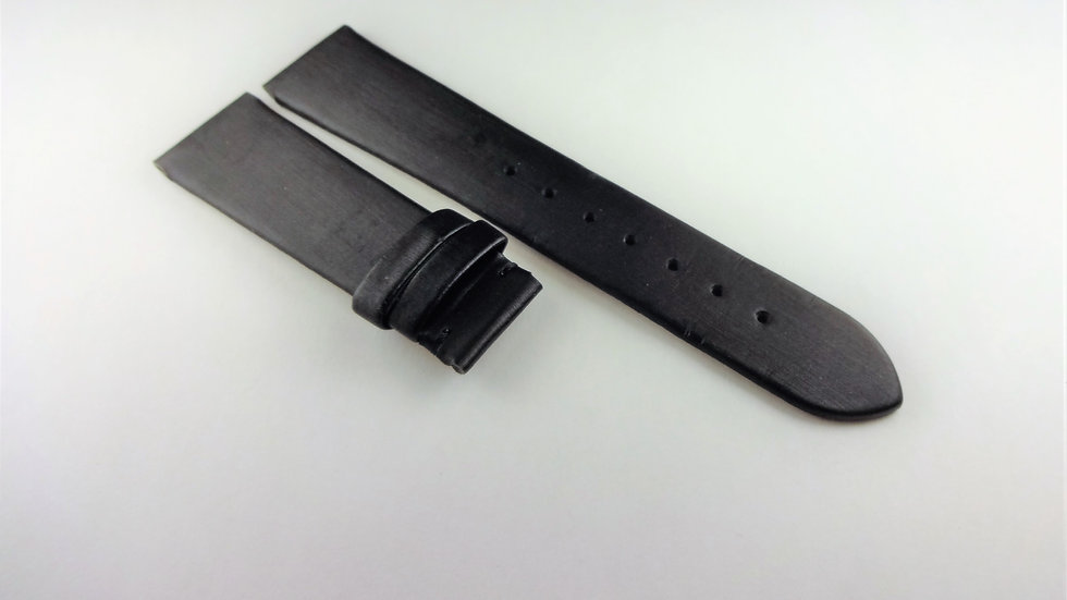 Charriol La Jolla Genuine Leather 18mm Black for Deployment