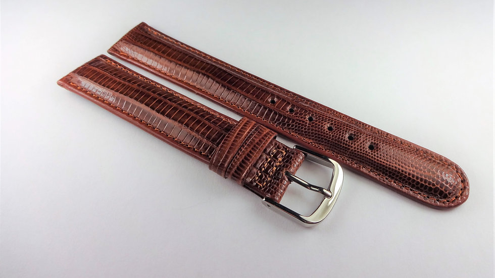 Cerruti 1881 17mm Brown Genuine Teju Lizard