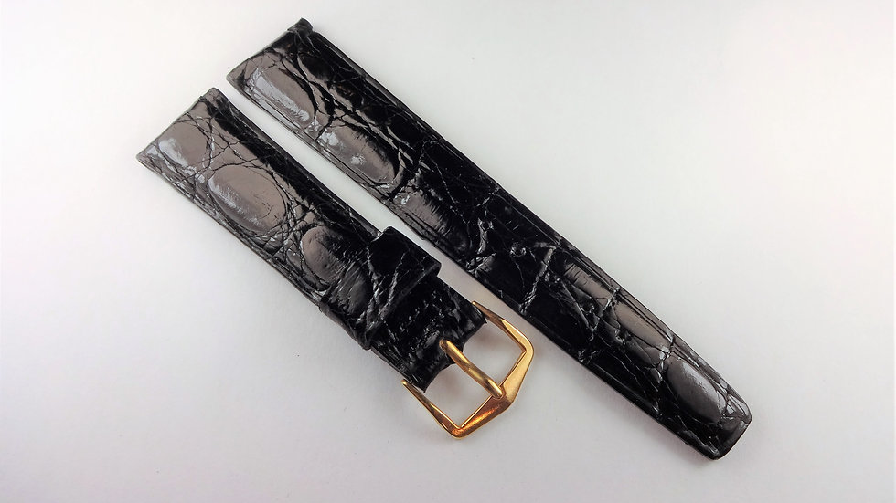 Replacement 19mm Black Genuine Select Alligator