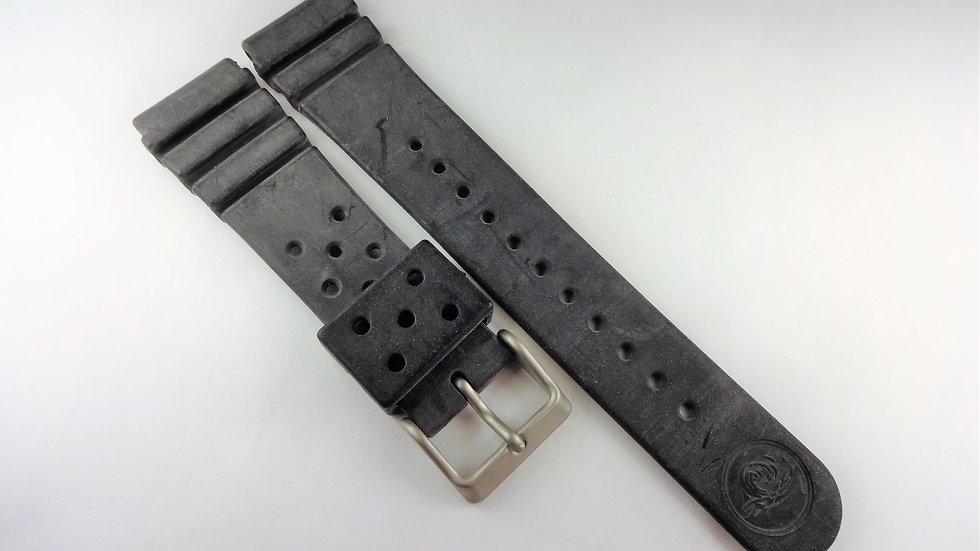Seiko Divers 22mm Black Rubber Band