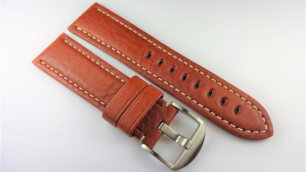 Replacement Hadley-Roma for Panerai 24mm Brown Genuine Leather