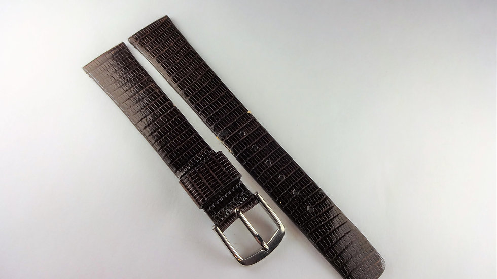Seiko 17mm Dark Brown Genuine Lizard
