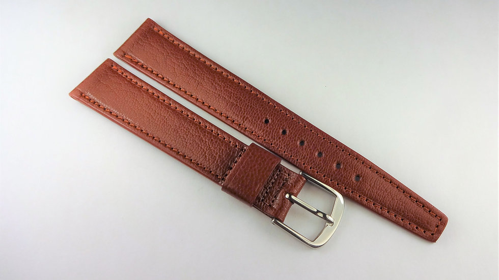 Replacement 17mm Brown Genuine Baby Goat