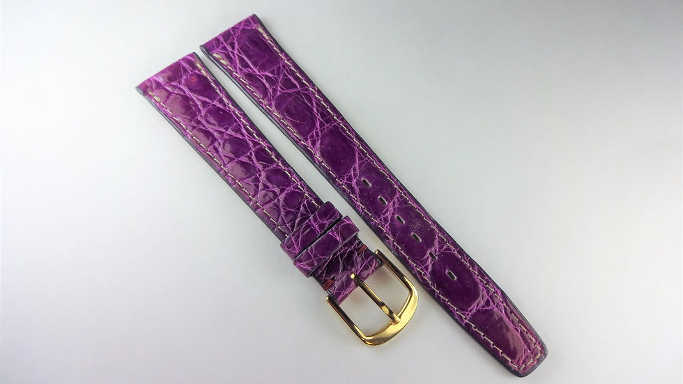 Replacement 18mm Purple Genuine Selected Crocodile