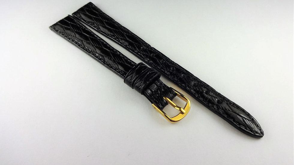 Bulova 13mm Black Genuine Leather
