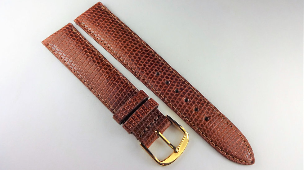 Replacement Hadley-Roma 18mm Brown Genuine Lizard
