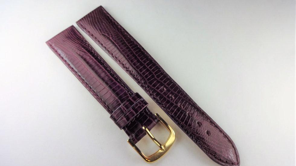 Replacement 18mm Purple Genuine Calfskin Teju Lizard Lizard