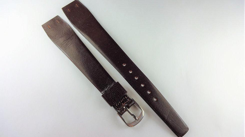 Replacement 18mm Dark Brown Genuine Calfskin