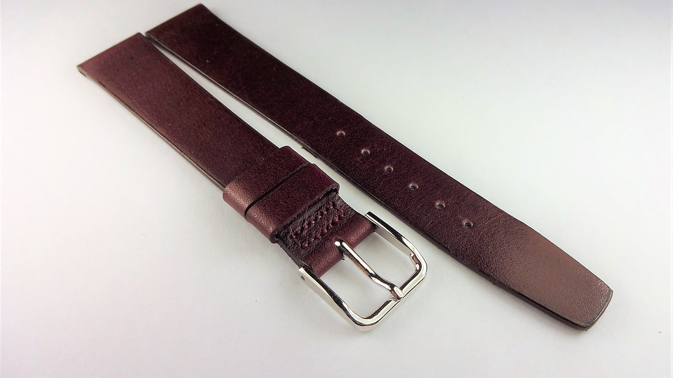 Hamilton 16mm Wine Genuine Calfskin