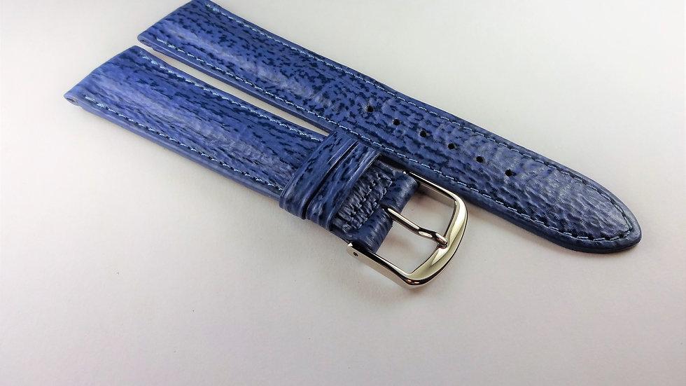 Paul Picot 20mm Blue Genuine Sharkskin