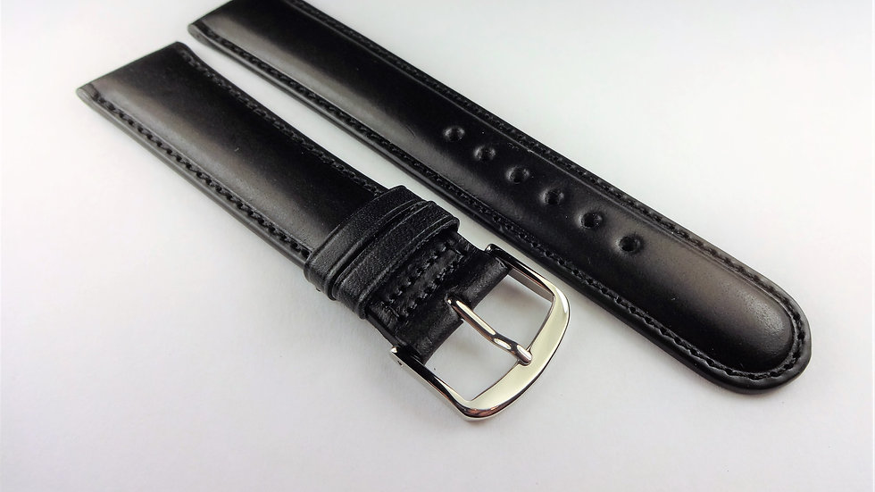 Bulova 20mm Black Western Leather