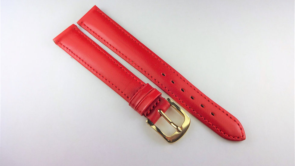 Replacement 14mm Red Genuine Leather No Patterns